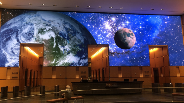 Digital Art at Comcast Lobby Installed