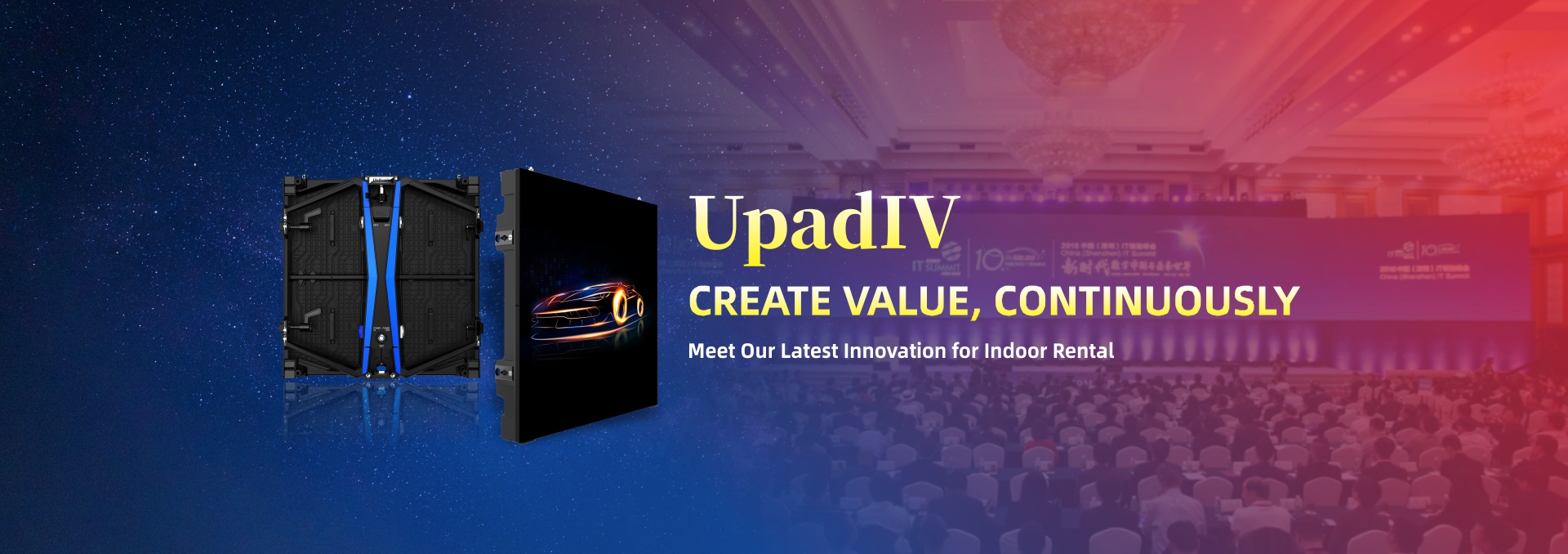 indoor rental LED - UpadIV
