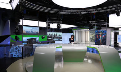 Moscow 24 News TV Studio