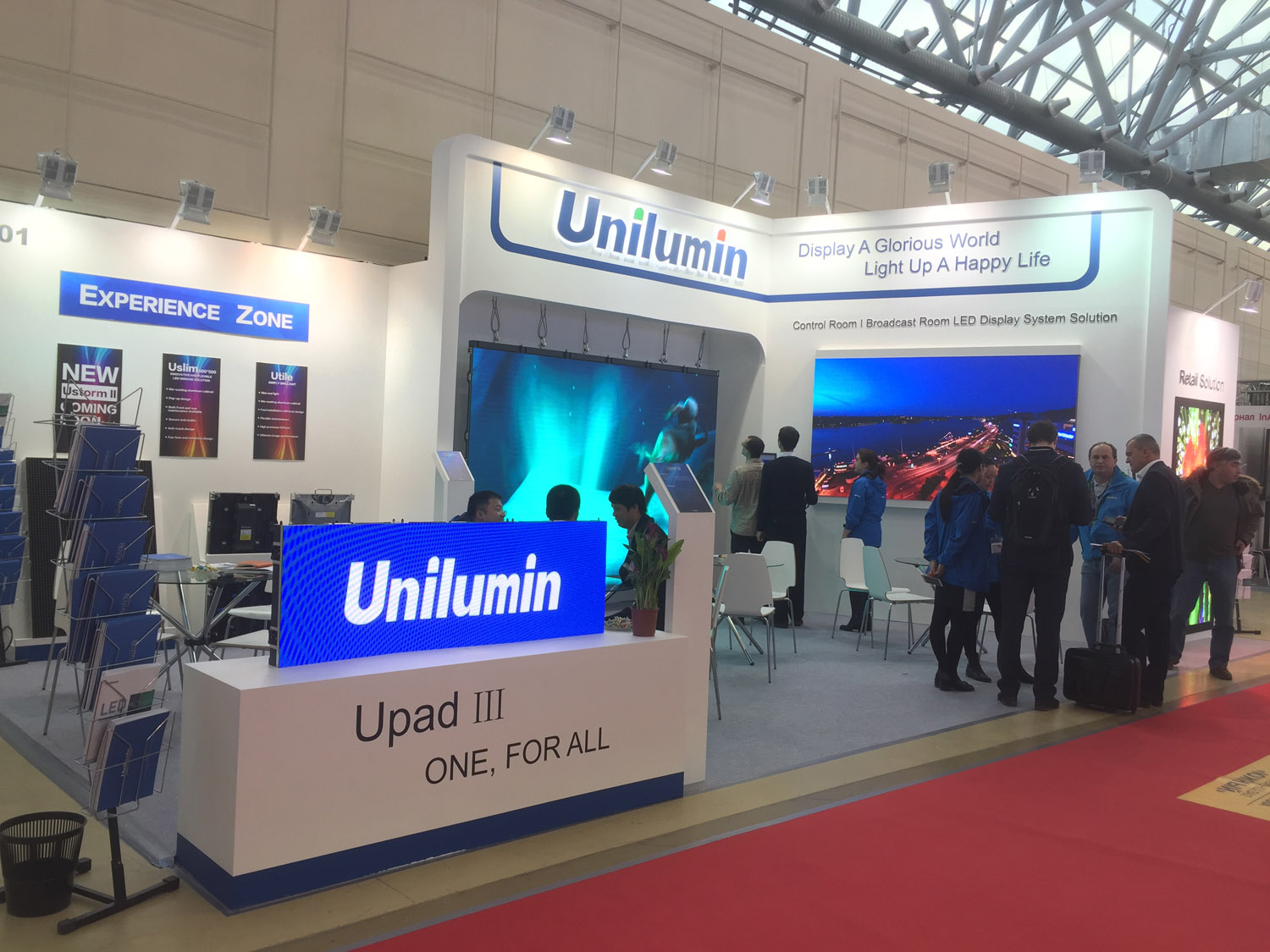 It was hot, hot, hot at Unilumin's booth at ISR, Moscow, Russia